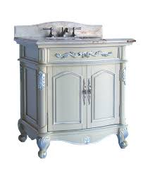 adelina 32 inch antique pastel single sink bathroom vanity