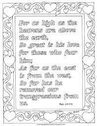 coloring pages for kids by mr adron psalm 103 11 12 printable