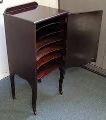 Antique Storage Cabinet Antique Wood 6 Shelf Record Sheet Storage Cabinet