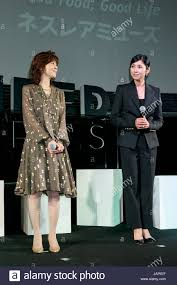 l to r japanese actress and singer mako ishino alongside actress