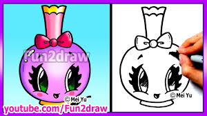 how to draw easy cartoons perfume bottle tutorial cute stylish