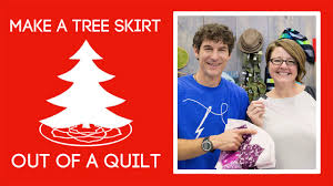 turn a quilt into a tree skirt with violet craft youtube