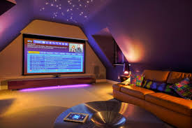 Cool Man Cave Lighting by Man Cave Memorabilia Loft Media Rooms And Cinema
