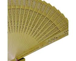 sandalwood fan personalized carved sandalwood wedding fan