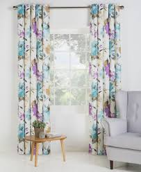 the collection ella faux silk lined eyelet curtains 168x137cm
