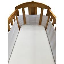 breathe easy air mesh crib liner white