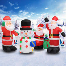 Large Inflatable Christmas Decorations by Inflatable Christmas Lights Ebay