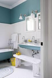 Blue Interior Paint Ideas Terrific Beach Inspired Bathroom Designs Using White Beadboard
