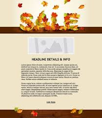 fall email marketing templates fall email marketing template