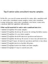 Sales Consultant Resume Sample by Top 8 Web Consultant Resume Samples