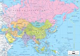 asia map and countries asia map with countries of continent clickable to asian and the