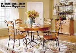 wood and iron dining room table indoor iron dining tables and iron chairs designs