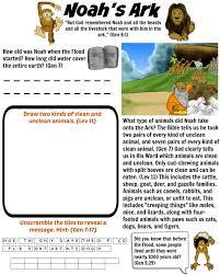free bible worksheet noah u0027s ark animals on the ark