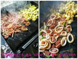 cuisiner poivron calamars au chorizo et poivron la plancha eno repas du week