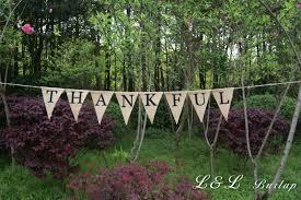 thanksgiving burlap banner thankful burlap banner thanksgiving banner autumn banner rustic