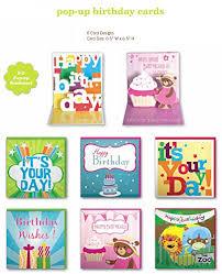 gift list assorted handmade pop up birthday cards 6 pack box set