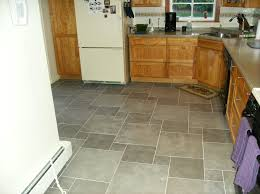kitchen floor tile designs with cream colors and white cabinet