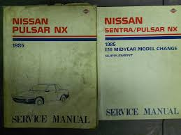 1985 nissan pulsar service repair shop manual set factory oem 85
