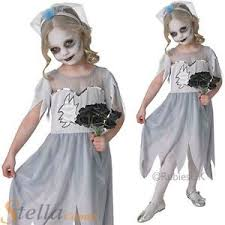 Corpse Bride Halloween Costume Girls Corpse Bride Fancy Dress Halloween Horror Ghost Kids Childs