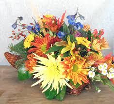 cornucopia centerpiece thanksgiving floral centerpieces
