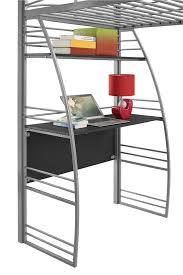 Metal Frame Loft Bed With Desk Dhp Furniture Studio Loft Bed