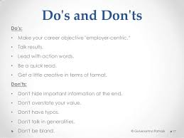 Dos And Donts Of Resume Job Application U0026 Resume