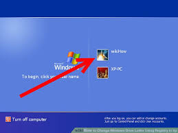 how to change windows drive letter using registry in xp
