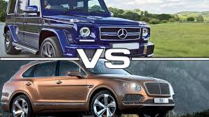 bentley mercedes 2016 mercedes amg g63 edition 463 vs 2016 bentley bentayga youtube