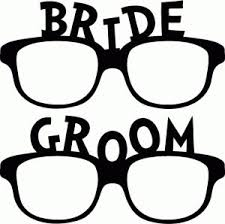 Props For Photo Booth 2pcs Set Black Bride Groom Glass Wedding Decoration Birthday Party