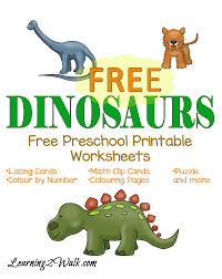 dinosaur worksheets preschool free worksheets library download