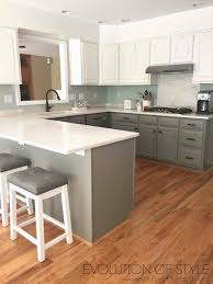 Gray And White Kitchen Simply White And Chelsea Gray Kitchen Evolution Of Style