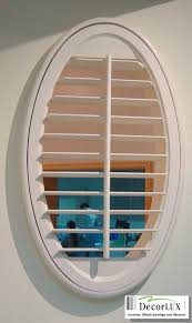 plantation shutter with oval shape decorlux plantation shutters