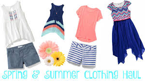 spring u0026 summer clothing haul 12 year old daughter old navy