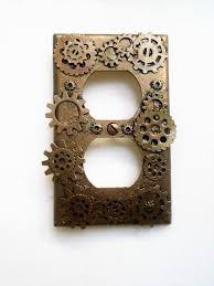 Steam Punk Home Decor Steampunk Wall Outlet Cover Steampunk Wall Plate Gears Two