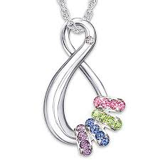 s bracelet birthstones s infinite birthstone pendant necklace swarovski