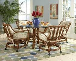 rolling dining room chairs dining table with caster chairs kitchen dining cushion swivel and