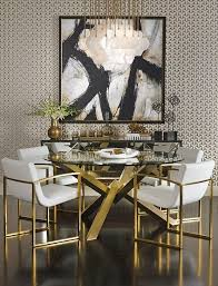 Luxury Dining Table And Chairs Luxury Gold And Black Furniture For Modern Interiors
