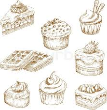 sweet delicious cupcakes and muffin tiered chocolate cakes and