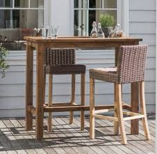 Garden Bar Table And Stools Teak Garden High Bar In Reclaimed Teak With Set In Drinks Cooler