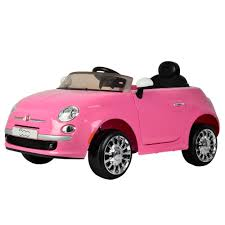 pink cars kids 6v fiat 500 ride on car in pink childrens electric car with