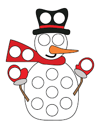 snowman dot printables free gift curiosity