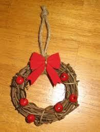 mini wreath ornament felt flower wreath grapevine wreath