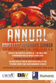 homeless veterans thanksgiving dinner louwalkercenter