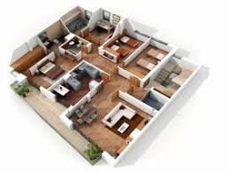3d house floor plans new 4 bedroom house floor plans 3d house plan