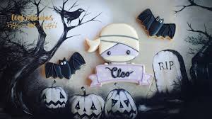 halloween cookies how to make mummy cookies with name banner for
