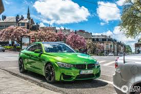 stunning bmw m4 in signal green color