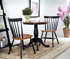 30 inch round dining table international concepts 3 piece 30 inch round table with 2 chairs in