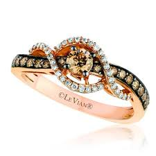 levian engagement rings le vian 14k strawberry gold chocolate diamond ring