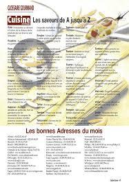 glossaire de cuisine cuisine revue n 8 jui aoû 2003 page 2 3 cuisine revue n 8 jui