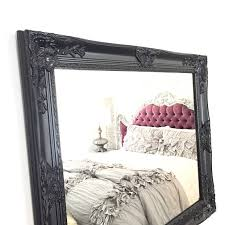 Shabby Chic Mirrors For Sale by Large Black Framed Shabby Chic Wall Mirror Bathroom Mirror Nursery